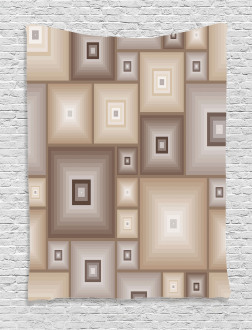Cubic Square Retro Form Tapestry