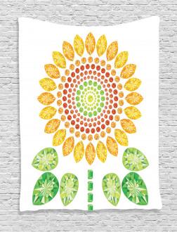 Sunflower Mandala Design Tapestry