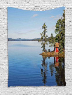 Country Lake House Tapestry