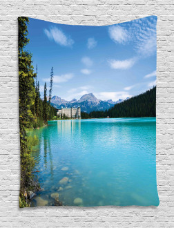 Canadian Lake Castle Tapestry