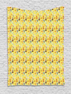 Yellow Kitchenware Tapestry
