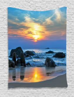 Sandy Peaceful Beach Tapestry