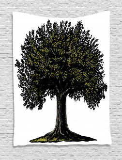Digital Fruit Tree Tapestry