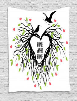 Romantic Bird Sweet Tapestry