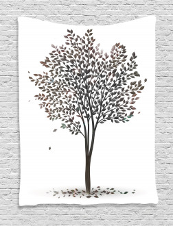 Fall Leaves Solititude Tapestry