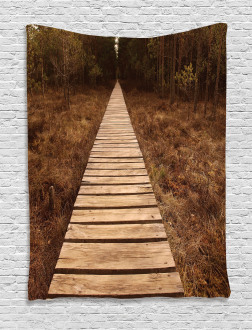 Wooden Path Adventure Tapestry