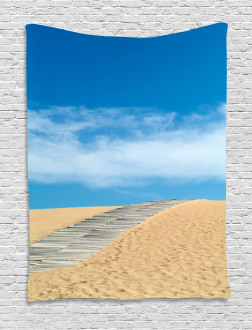 Path over Golden Sand Tapestry
