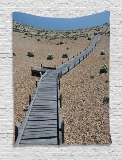 Coastline Pebbles Peace Tapestry