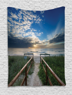 Pathway to Sea Swimming Tapestry