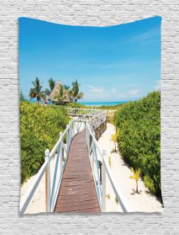 Wooden Walkway Exotic Tapestry