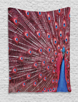 Peacock Bird Surreal Tapestry