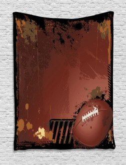 American Football Art Tapestry