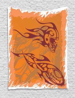 Tribal Bohemian Ball Tapestry
