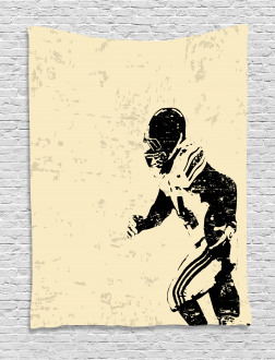 Rugby Player in Action Tapestry