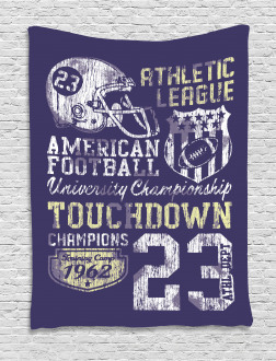 Retro American Football Tapestry