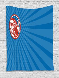 Pop Art American Football Tapestry
