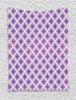Retro Style Abstract Tapestry