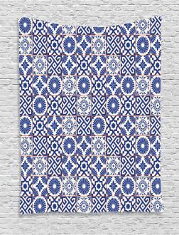 Old Retro Artful Tiles Tapestry