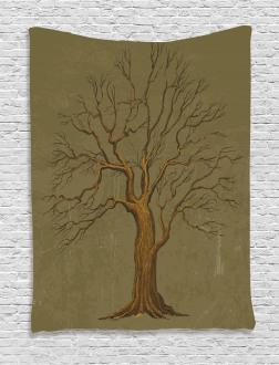Old Paper Effect Vintage Tapestry