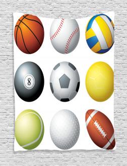 Sports Balls Pattern Tapestry