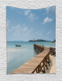 Wooden Bridge to Sea Tapestry