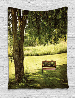 Wooden Bench at Park Tapestry
