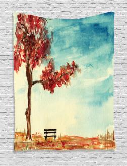 Watercolor Artwork Bench Tapestry