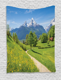 Wild Flowers in Alps Tapestry
