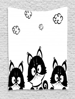 Three Cute Kittens Tapestry