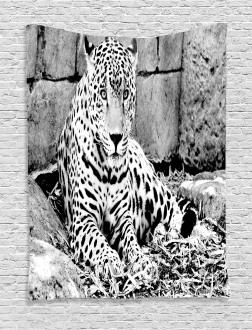 Wild Tiger Jaguar Tapestry