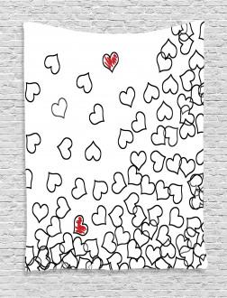Wedding Heart Shape Tapestry