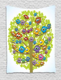 Canary Bird Fun Family Tapestry