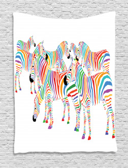 Colorful Animals Cute Tapestry