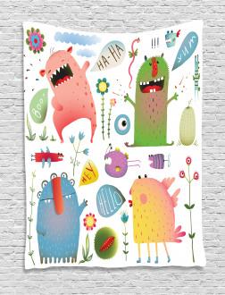 Imaginary Creatures Fun Tapestry