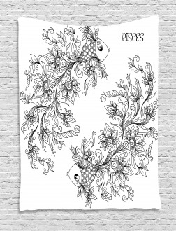 Astrology Pisces Sign Tapestry