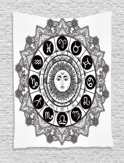 Mandala Ethnic Kitsch Tapestry