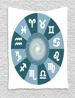 Zodiac Universe Signs Tapestry