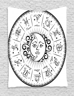 Astrology Moon Sign Tapestry