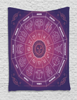 Colorful Astrology Signs Tapestry
