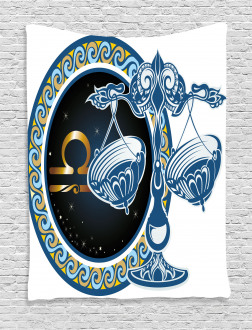 Libra Sign Astrological Tapestry