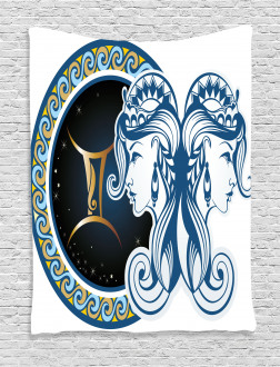Astrology Gemini Icon Tapestry