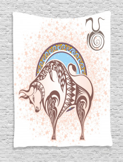 Taurus Icon Astrology Tapestry