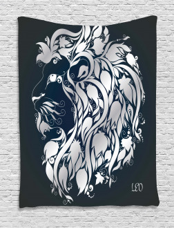 Leo Astrology Zodiac Tapestry
