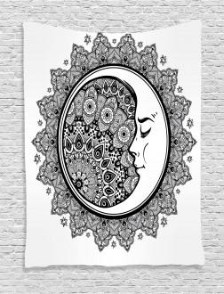 Mandala Moon Bohemian Tapestry