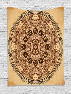 Eastern Mandala Zodiac Tapestry