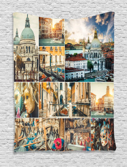 Venice Cityscape Canal Tapestry