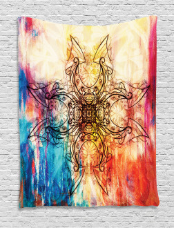Ornate Mystic Sketch Tapestry