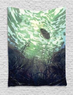 Underwater World Art Tapestry