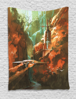 Spaceship in Canyon Tapestry