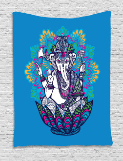 Elephant Mandala Pattern Tapestry